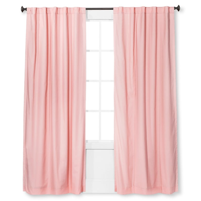 pink cotton curtains 30 off sale pink curtains 2 panels etsy rh etsy com