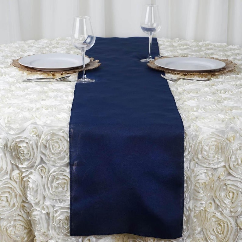 Silver Wedding Runners Navy Blue Table Runner Champaign Table Runner Silver Table Runner Wedding Runners
