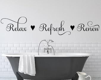 Bathroom Wall Quotes Etsy