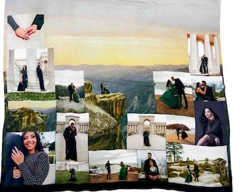 Groom's Gift Silk Jacket Liner Photo Collage Silk /Men Women's Silk Linings/Photos 17 Photos
