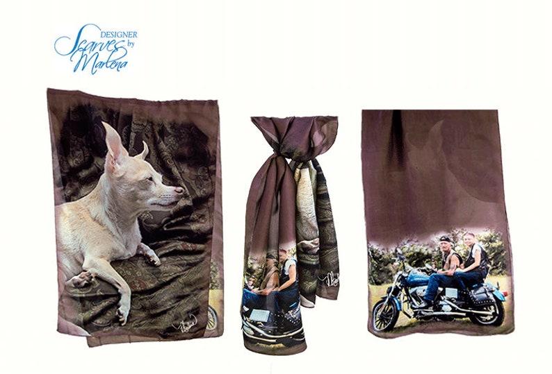 SAMPLE/Motorcycle Scarf/Besties Girlfriend Gift/Large image 0