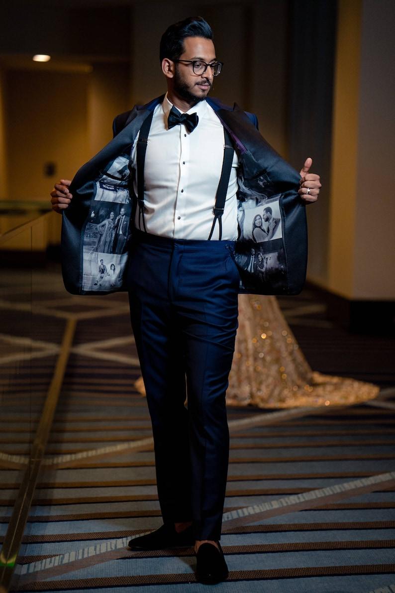 Black and White Silk Lining Tuxedo Jacket Wedding Gift for image 0