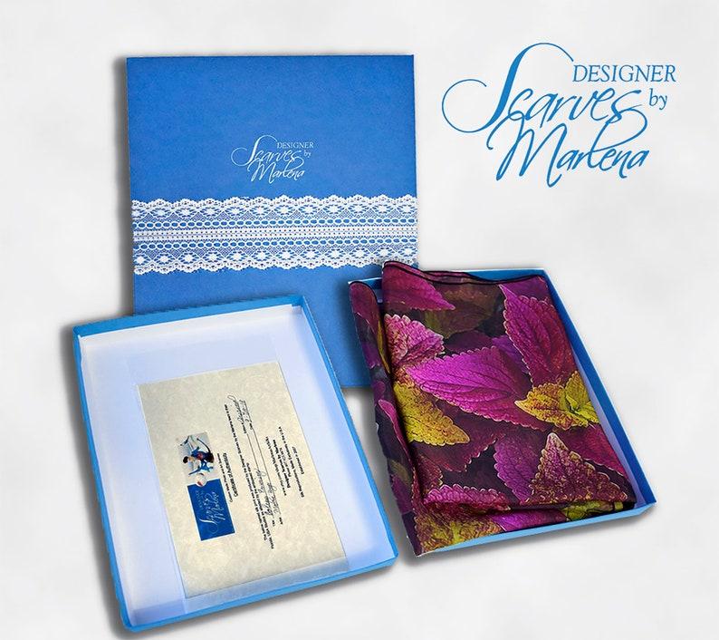 Designer Scarves by Marlena Blue Gift Box/Includes Certificate image 0