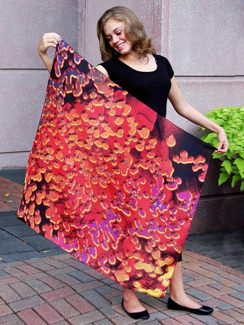Elegant Beach Sarong Wrap/Polka Dots/Artist Scarf/Sarong Large image 0