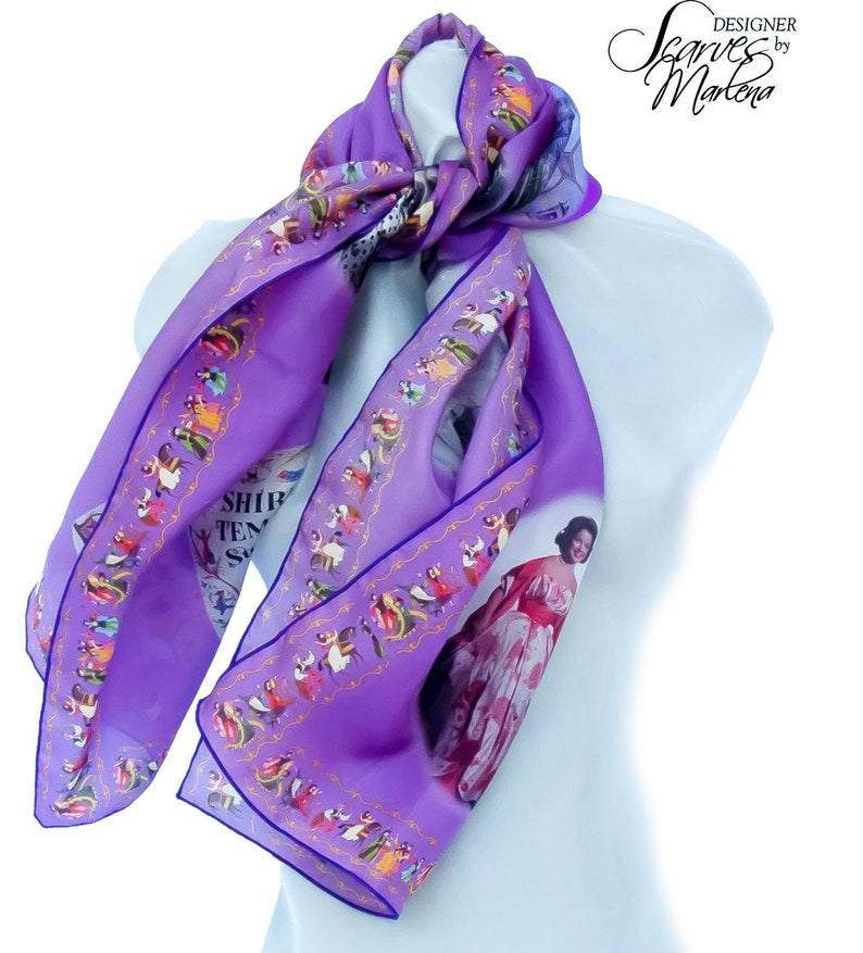 Valentine's Shirley Temple Scarf/Collector Gift/Themed image 0
