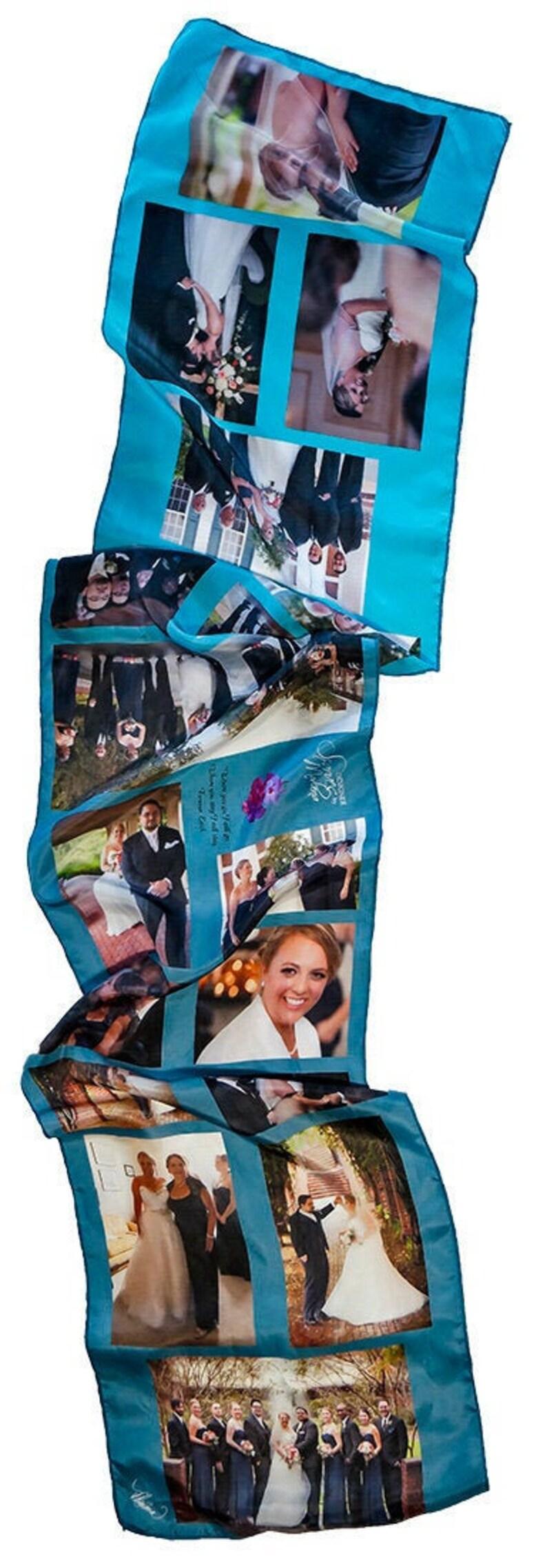 SAMPLE/Photo Print on Fabric/Scarf/Wedding Scarf/Wedding Photo image 0