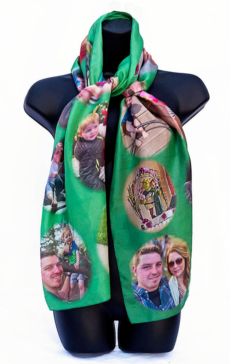 SAMPLE/Family Photo Scarf/50th Wedding Anniversary/Shrek image 0
