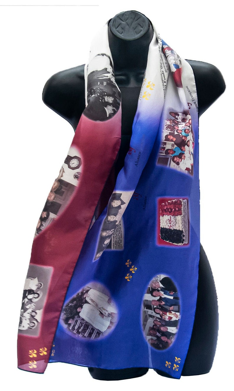 SAMPLE/50th Anniversary Scarf/Fabric Printing/Mulberry image 0
