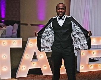 Custom Linings for Jacket Tuxedo Men or Women's 100% Silk Black and White or Color/26 Photos/ Size 36 to 42+ Men's Regular