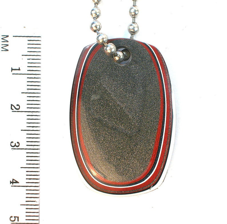1128 DVH Fordite Ford Paint Freeform Focal Dangle 42x29x4mm