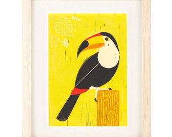 TOUCAN SAM, Tiki Room Art, Tropical Decor, Retro Disney Theme, Mid Century Modern Art, Wall Art Decor, Art Print: 4 x 6, 5 x 7
