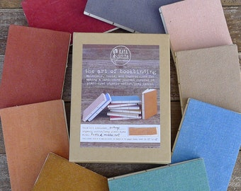 DIY Bookbinding Kit: Learn the Art of Bookbinding with Kata Golda, includes choice of plant-dyed organic cotton/hemp