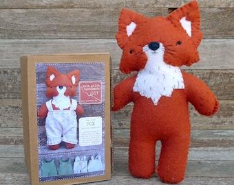 DIY kit: fox stuffed companion by kata golda