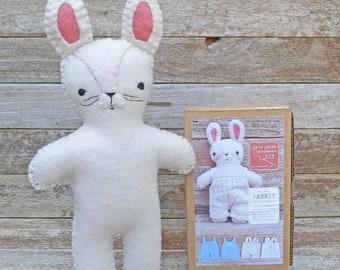 DIY kit: rabbit stuffed companion, by kata golda