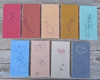 hand-bound plant-dyed organic cotton/hemp embroidered journals:  by kata golda