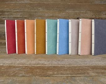 hand-bound plant dyed organic cotton/hemp simple hemp journals:  by kata golda
