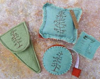 scissor slips, tape measure & pin cushion: tree, by kata golda