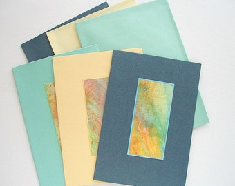 Art Cards with Original Hand Painted Watercolor Toppers
