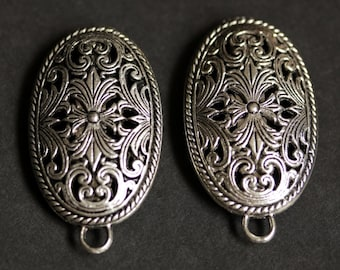 Two (2) Viking Brooches. Silver Apron Pins. Fretwork Turtle Brooch Set. Shoulder Brooches. Norse Jewelry. Historical Renaissance Jewelry.