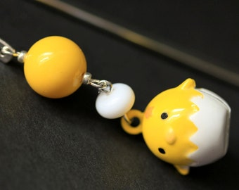 Baby Chick Bookmark. Beaded Bookmark. Easter Chick Book Charm. Book Hook Bookmark. Handmade Bookmark.