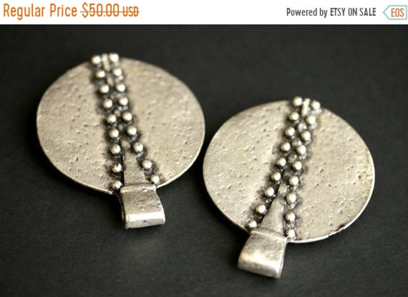 2 Historical J MOTHERS DAY SALE Two Silver Apron Pins Shoulder Brooches Viking Brooches Large Brooches Riveted Rows Turtle Brooch Set