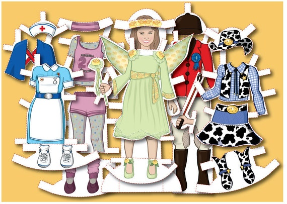 Personalized MAGNETIC Paper Doll Illustrated From Your Photo