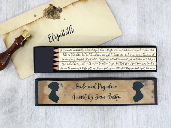 Stolz Und Vorurteil Briefpapier Geschenk Jane Austen Zitate Etsy