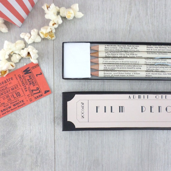 Movie Themed Gifts Romantic Movie Gifts Cinema Pencils Etsy