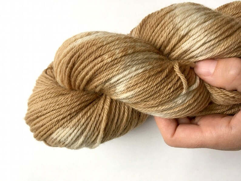 Plant Dyed Walnut Brown Yarn 100gm Worsted Weight Hand Dyed image 0