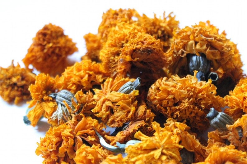 Dried Marigold Blossoms 20gm Natural Dye Flowers Dry Tagetes image 0