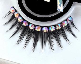 Fringe Rhinestone False Eyelashes Semi-Custom - 4 Styles - SugarKitty Couture