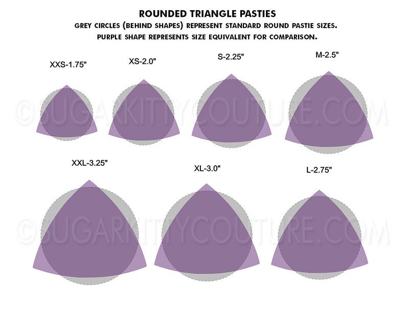 Translucent ROUNDED TRIANGLE Pastie Blanks \u2022 DIY \u2022 SugarKitty Couture