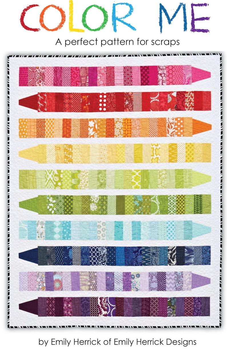 COLOR ME Quilt Pattern PDF image 0