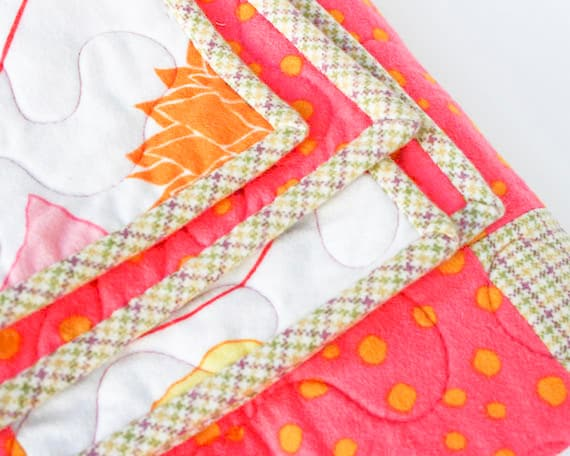 Pink Plaid Flannel Baby Blanket
