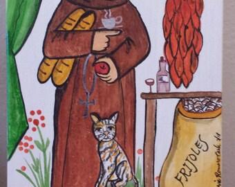 San Pasqual, kitchens, cooks, chefs, restaurants, waitresses, retablo, santo