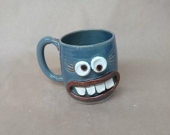 Procrastinator Mug. Fun Loving Not Too Serious Coffee Cup. Laid Back Woman. Funny Mugs for Her. 16 Ounces. Hot Tea Coffee Beer Mug. Blue.