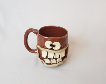 507d89c3cb6 NEW. Doctor Coffee Cups. Large Red Brown Stoneware Pottery 12 Ounces. Stoneware  Pottery. Funny Dr. Mugs. Nelson Studio Ug Chug Face Mug.