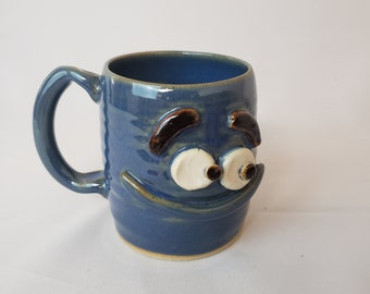5d993bc36c2 Frederick the Antisocial INTROVERT Coffee Cup. Pottery Mugs for Him. Funny  Not A People Person Coffee Mugs. Handmade Stoneware Pottery.
