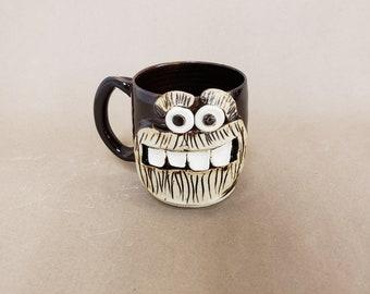 Full Beard Face Mug. CARL Microwave and Dishwasher Safe UgChug Mug by Nelson Studio. Manly Man Lumberjack Outdoor Guy Apocalypse Buddy Mug