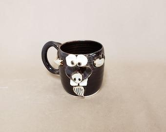 NEW Goat Mug. Farmhouse Barnyard Funny Farm Animals. New Goats Coffee Cup. Nelson Studio Ug Chug Face Mug. Black. Goat Lover Coffee