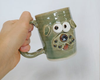 Funny Puppy Dog Furbaby Dog Mom Dad Coffee Cup. Doggy Owner Coffee Cup Gift. Nelson Studio Ug Chug Face Mug. Green Hot Chocolate Mugs.