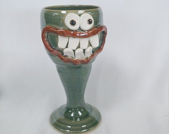 Parent Wine Goblet SCOTT the Virtual Schooling Parent. Funny Face Wine Drinking Glass for Stressed Out Parents. Nelson Studio UgChugs. Green