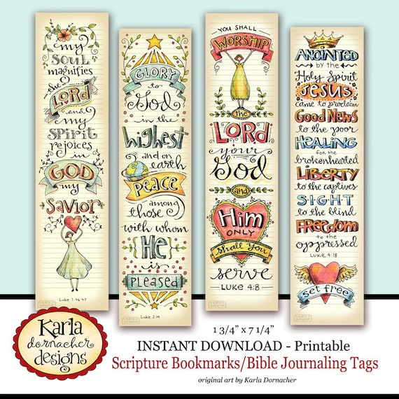 Luke 1 4 Bible Bookmarks Journaling Tags INSTANT