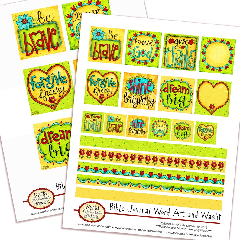 WORD ART... Set 1  Full-Color Bible Journaling Planner Banner image 0