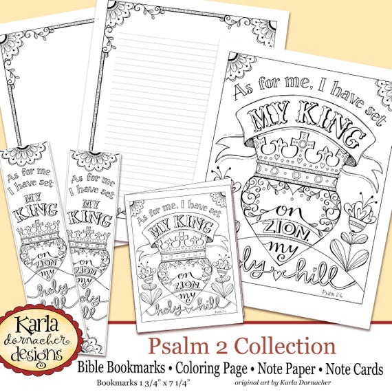 Psalm 2 Holy Hill Bible Journaling Color Your Own INSTANT