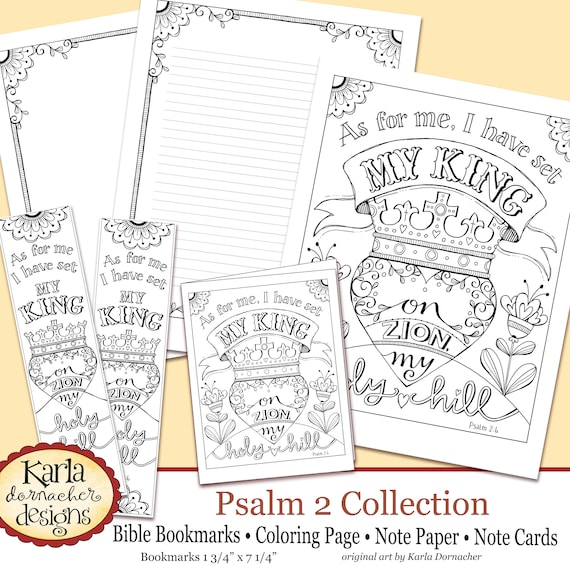 Psalm 2 Holy Hill Bible Journaling Color Your Own Instant Etsy