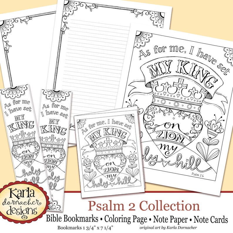 Psalm 2, Holy Hill, Bible Journaling Color Your Own INSTANT Download Art  Print Coloring Page Printable Christian Religious