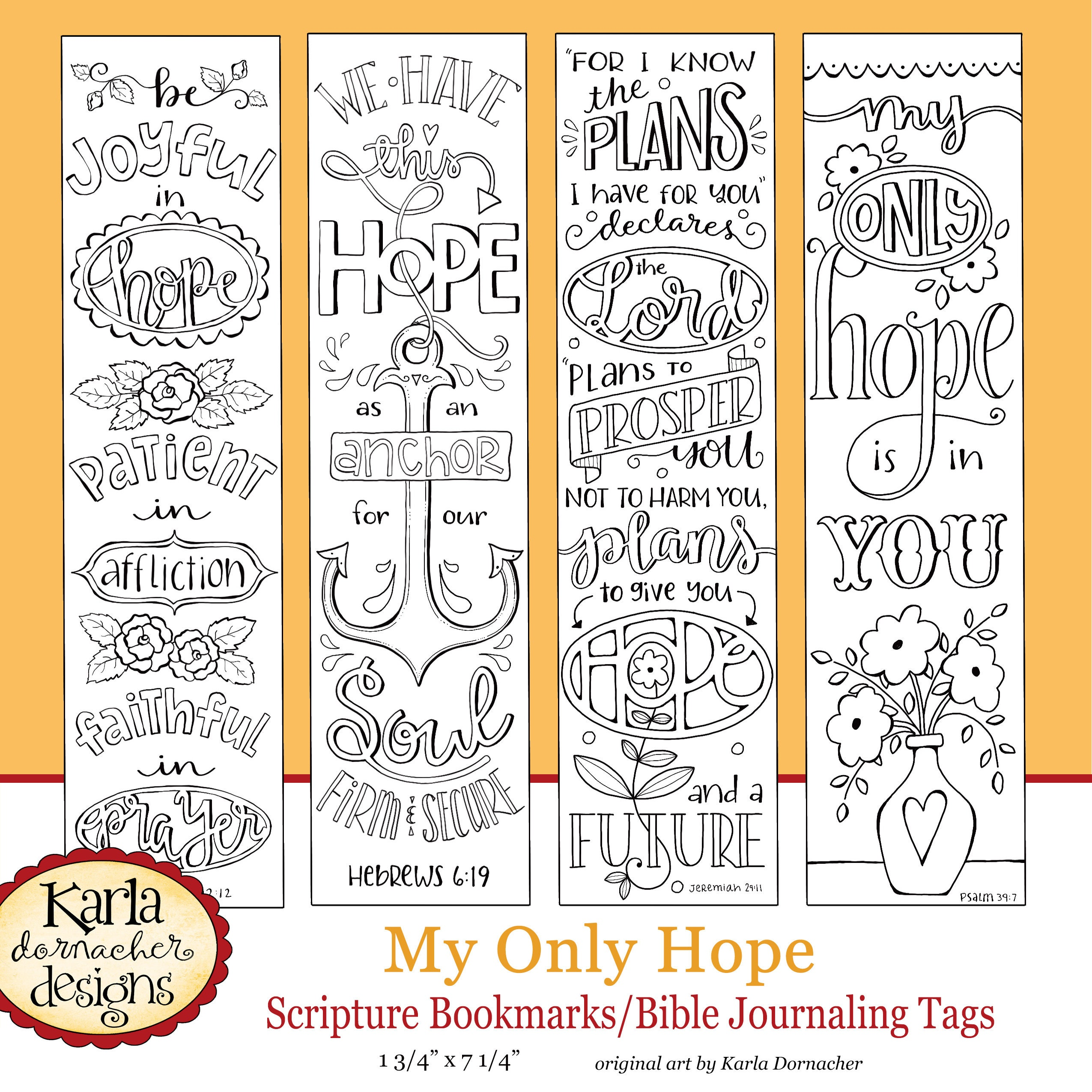 Formato PDF MY ONLY HOPE, Bible Journaling Templates