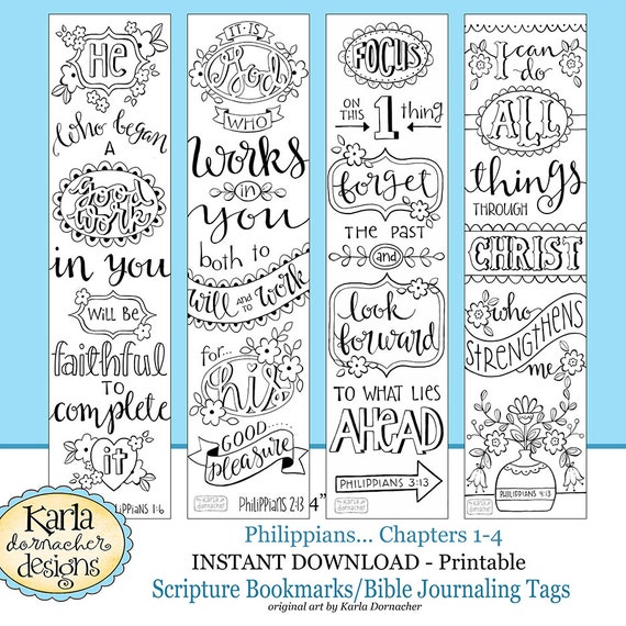 PHILIPPIANS Bible Journaling Templates Tracers Color Your