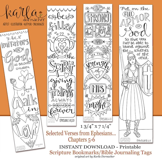 Ephesians 5 6 Color Your Own Bookmarks Bible Journaling